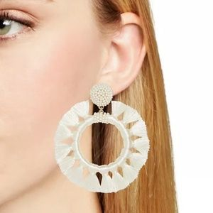 NEW BaubleBar Adrita Hoop Earrings in Ivory